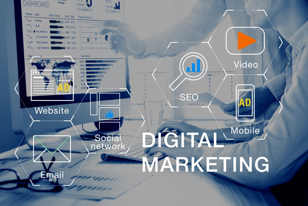 Digital marketing strategy concept