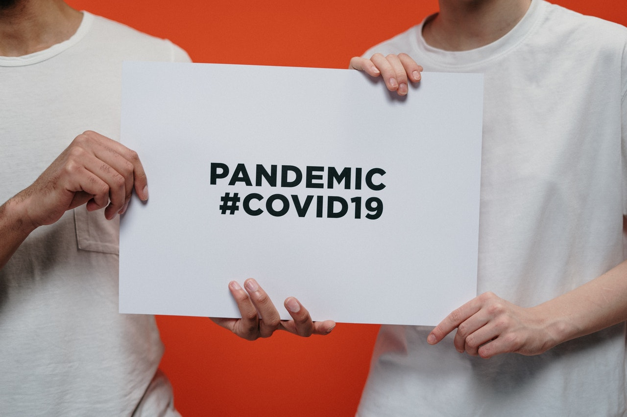 sign that says pandemic #covid19