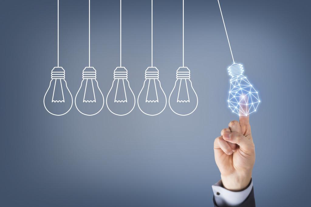 idea concept with lightbulbs