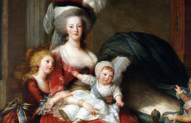 Marie Antoinette holding children